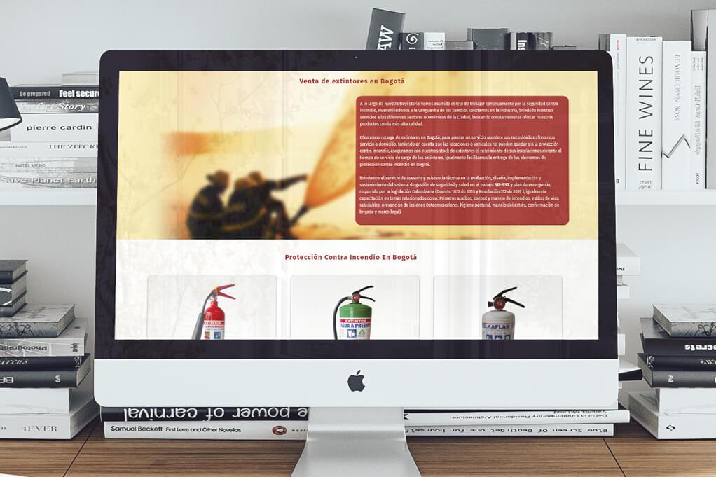 Página Web Extintores 2021 Bogotá